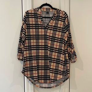 Long sleeve tunic blouse perfect for leggings